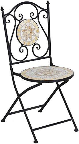 TrendLine Stuhl Provence Mosaik Gartenstuhl Gartenmöbel Balkonstuhl Oriental