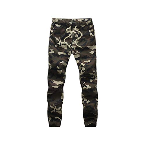 Cotton Jogger Pencil Harem Pants Men Camouflage Military Loose Comfortable Cargo Trousers Camo Jogger