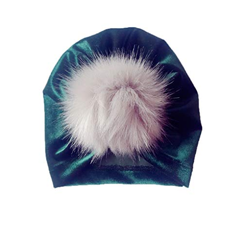 Vkospy Kinder Velvet Indian Hut-Baby-Mädchen Junge Haarknäuel Fotografie Cap Herbst-Winter-warme Mütze - Indian Für Mädchen Hut