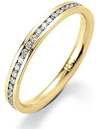0.25 Carat Round Diamond Channel Set Half Eternity Ring in Yellow Gold