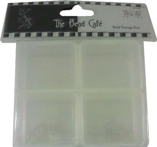 Bead Cafe The Perles Boîte de rangement Transparent