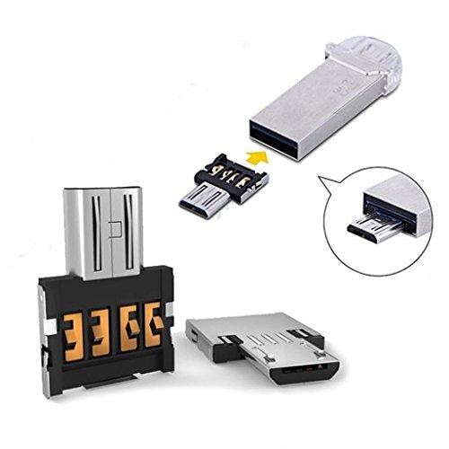 Susenstone 2pcs Micro USB Mâle Vers USB OTG Femelle Adaptateur Convertisseur pour Romaric, HTC, Samsung, Téléphone Tablette Android de Huawei
