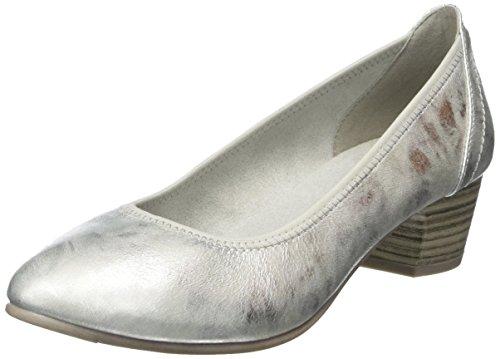 Softline Damen 22361 Pumps, Silber (White/Silver), 40 EU