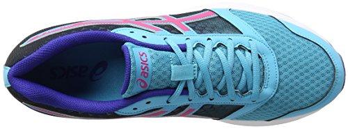 Asics Unisex-Erwachsene Patriot 8 Gymnastik Blu (Aquarium/Sport Pink/Deep Blue)
