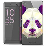 Caseink - Coque Housse Etui pour Sony Xperia XA Ultra 6 [Crystal HD Polygon Series Animal - Rigide - Ultra Fin - Imprimé en France] - Panda