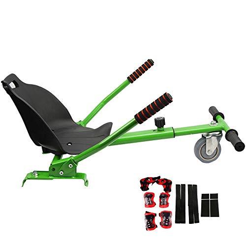 LMEI-HBSITZ Sitz FüR Hoverboard, Hoverboard-Go-Kart-SitzzubehöR, LäNgenverstellbar, ExplosionsgeschüTzte PU-Reifen/FüR (6,5-10 Zoll) / Erwachsene, Kinder(Enthält kein Hoverboard)