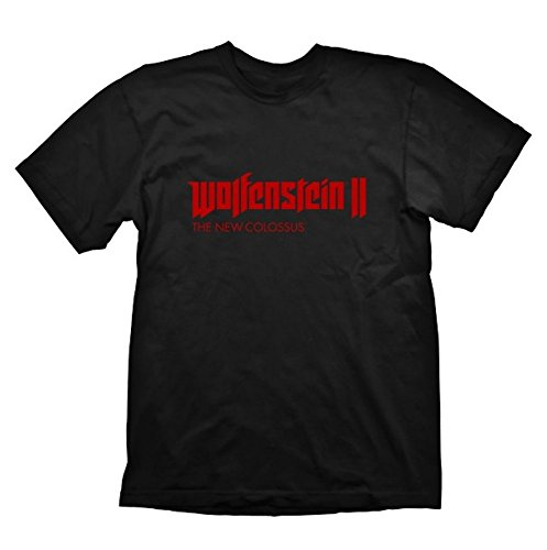 Preisvergleich Produktbild Wolfenstein 2 - Logo - Shirt | Schwarz | 100 % Baumwolle , Größe:S