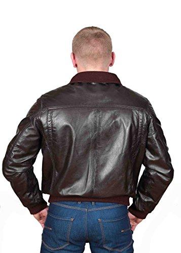 Herren Gepaßte Bomber Lederjacke Designer weiche hochwertige Mantel George Braun - 2