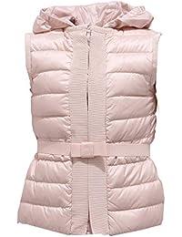 MONCLER 0984Y Piumino Smanicato Girl Bimba Peridot Light Pink Jacket