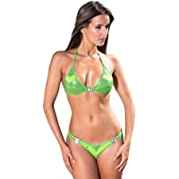 Choisir Une Meilleure Vente En Ligne Recommander Rabais Maillot de Bain String Bikini Bleu Rose Vert Marron Métallisé - Malawi Prix De Gros tnzlRmq