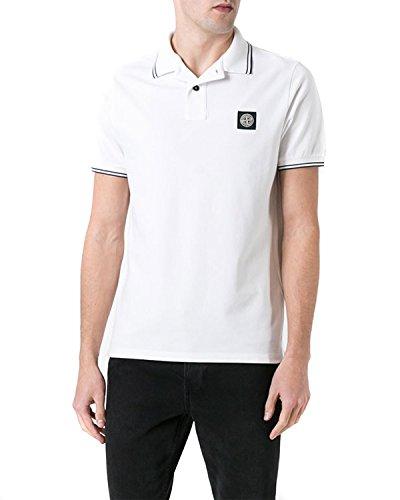 STONE ISLAND - Herren Polo Slim Fit 6515508A3 - weiß, M
