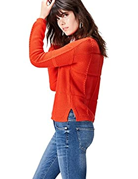 FIND Jersey de Crochet de Manga Larga para Mujer