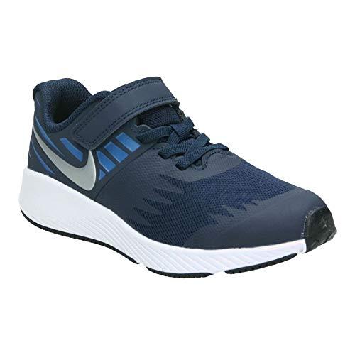 separation shoes b73b4 c9e9b Nike Jungen Star Runner (PSV) Laufschuhe Mehrfarbig (Obsidian Metallic  Silver Signal Blue 406) 34 EU