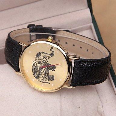 Relojes Hermosos, Damas moda mujer ocio miran estudiantes reloj elefante reloj de cuarzo reloj unisex para un regalo ( Color : Negro , Talla : Para Mujer-Una Talla )