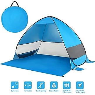 KEESIN Automático Tiendas instantáneas Refugio portátil para el Sol con protección UV y diseño Resistente al Agua para Acampar en la Playa al Aire Libre Senderismo Picnic 1-3 Personas