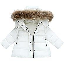 Abrigo de Bebé invierno Amlaiworld Bebé niñas niños abajo chaqueta abrigo otoño invierno ropa caliente (Tamaño:12-18Mes, Blanco)