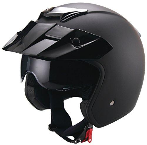 Jethelm Helm Motorradhelm Rollerhelm RETRO RALLOX 723 schwarz matt Größe M