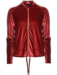 e8716aff8 Golddigga Womens Vlour Bomber Jacket