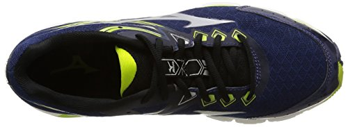 Mizuno Wave Connect 2, Chaussures Homme multicolore (Medievalblue/Silver/Lime Punch)