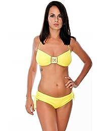 maillot de bain ondademar bandeau jaune