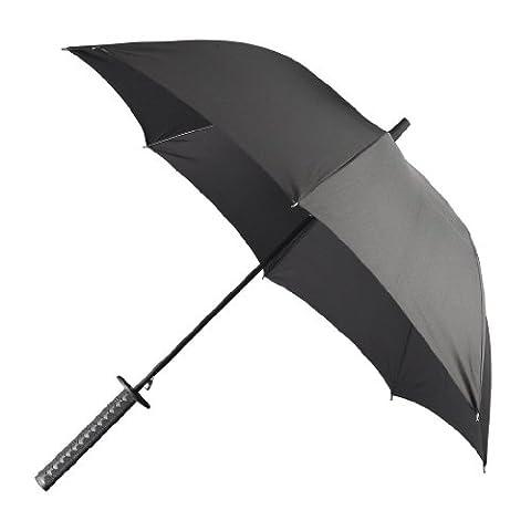 Noir Sorcière Perruque - Parapluie de Samurai Japonais Importation Exclusive du