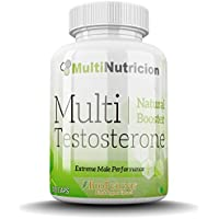 Multi Testosterone   Testosterona Natural   Tratamiento para tres meses  180 Capsulas   Bioperine® Fenogreco Tribulus D-aspartico Ashwagandha Citrulina 