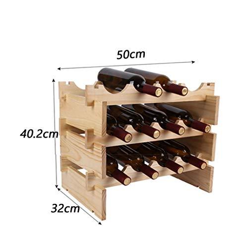 TYJSHG Europäische kreative benutzerdefinierte massivholz weinregal weinregal bar bar Dekoration Wohnzimmer Zimmer decorationmulti Flaschen weinregal (Size : XXXL)
