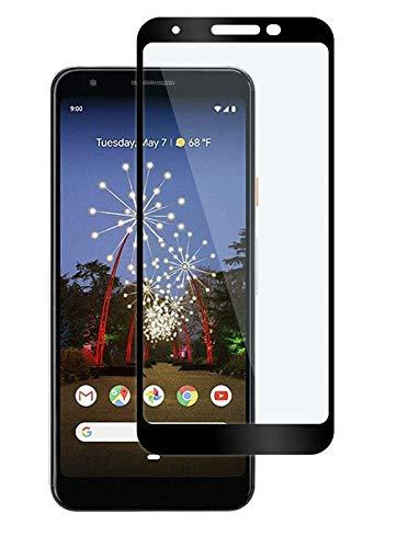 ShopByShop Google Pixel 3a Tempered Glass Full Coverage ShopByShop Pro Tempered Glass for Google Pixel 3a (Black)