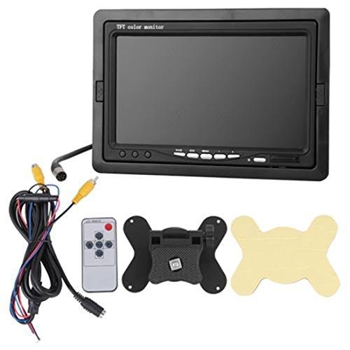 17,8 cm TFT LCD vue arrière de recul arrière Back Up Camera moniteur écran large de parking Auto DVD portable CCTV