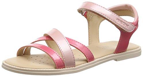 Geox Mädchen J Sandal Karly Girl D Offene Keilabsatz, Pink (LT Coral/ROSEC7QK8), 31 EU