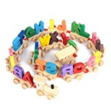 Alphabet toy train puzzle