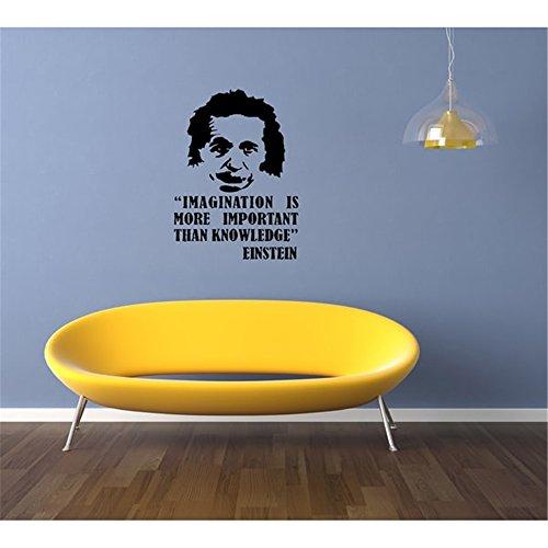Vinyl Wand Erklärung Familie DIY Dekor Kunst Aufkleber Home Decor Wand Kunst Phantasie Phantasie ist wichtiger als Wissen