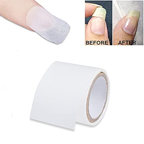 CoulorButtons 3 * 100cm Klebstoff Seide Nail Wrap Verst?rkung Nail Protector Wei? UV Gel Acryl Nail Art (Weihnachten Acryl Nail Art)