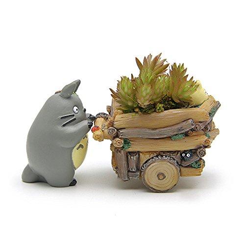 MATECam Totoro Blumentopf, Kaktus Behälter mit Loch Gärten Harz Craft Kleine Sukkulente Pflanzgefäß Home Dekoration Cartoon Vase