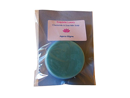 Goat-Milk-and-Chamomile-Soap-80g-Totally-Natural-EXQUISITE-Luxury