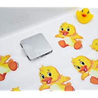 Non Slip Bath Mat Stickers - Modern fun Stylish Alternative to Rubber Suction Mat - Strong Adhesive Textured Stick on Anti Skid safety Treads for Baby Toddler Child - SLIPS AWAY®