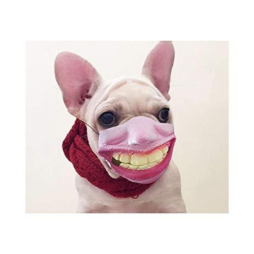 (QIQI-PET Hund Gesichtsmaske Weihnachten Unterhaltung Parodien Lustige Cosplay Maske, Halloween Hund Spielzeug Hund Kostüm Kopfbedeckung (Farbe : B))