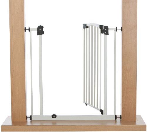 Impag Türschutzgitter Treppenschutzgitter 62 – 222 cm selbstschließend – zum Klemmen – ohne Bohren Swing + 20 Weiß - 3
