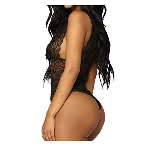 MINXINWY_Lencería Sexy mujer Tallas Grandes, Encaje Deslizante Pieza lencera erótica PestañAs Y...