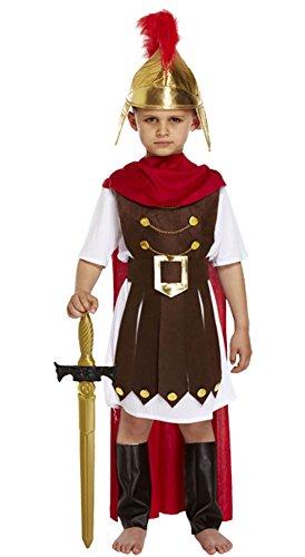 Islander Fashions Kinder r�mischen General Kost�m Kost�m jungen Gladiator Kaiser Sparta Soldat Outfit klein (4-6 Jahre)