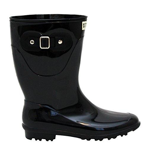 A&H Footwear  Katrina,  Mädchen Damen Arbeits-Gummistiefel Schwarz