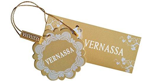"""VERNASSA Herren 45""""inch Lange Klassische Satin Schlafanzüge Charmeuse Morgenmantel Homewear , Kimono Bademäntel Robe mit Gürtel, Multicolor -Muster, Größe für L-XXL Drachen Burgund-032R"""