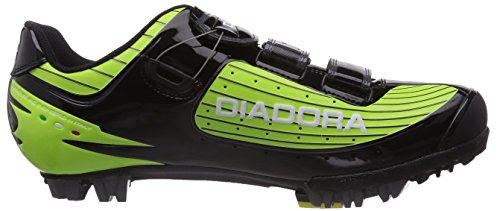 Diadora - X Vortex- Comp, Scarpa Da Ciclismo Unisex – Adulto Multicolore (Mehrfarbig (grün/schwarz 2174))