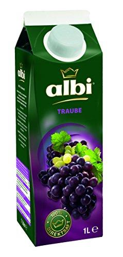 Albi Gold Trauben-Saft Rot 100%, 6er Pack (6 x 1 l Packung) - 1 Traubensaft Liter