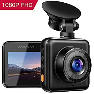 APEMAN 【Updated】 Dash Cam 1080P Full HD Mini Dash Camera for Cars Recorder Super Night Vision, 170° Wide Angle, Motion Detection, Parking Monitoring, G-Sensor, Loop Recording