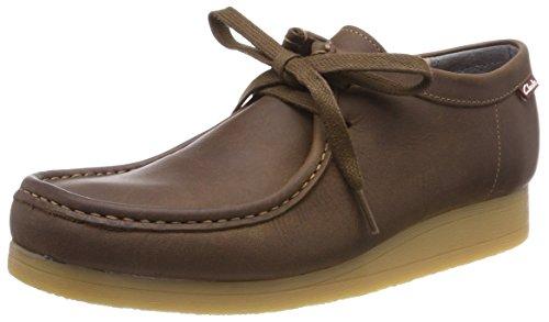 Clarks Herren Stinson Lo Derbys, Braun (Beeswax Leather), 44 EU (Clarks-herren-desert Schuhe)