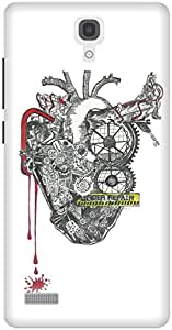 The Racoon Grip printed designer hard back mobile phone case cover for Xiaomi Redmi Note. (The Machin)