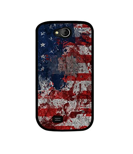 Casotec Painting American Design Canvas Printed Soft TPU Back Case Cover for Micromax Canvas Elanza A93  available at amazon for Rs.349