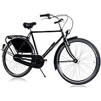 Tulipbikes HOLLANDER, le vélo Hollandais original et unique, noir brillant, 3 vitesses Shimano, hauteur de cadre 57cm