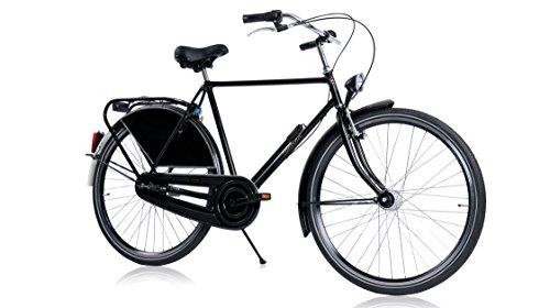 Tulipbikes HOLLANDER, le vélo Hollandais original et unique, noir brillant, 3 vitesses Shimano,...